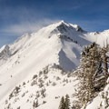 A windy Mount Superior in winter.- Twin Peaks Wilderness