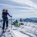 Gaining the summit of Mount Tuscarora.- Great Backcountry Skiing Near Salt Lake City, Utah