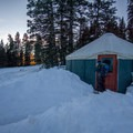 Great sunset views can be seen by walking through the forest to the west from Geyser Pass.- 10 Awesome Yurts for Winter Adventure