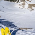 Staring down the steep ski run.- Route Planning and Partner Communication in the Backcountry