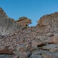 The Keyhole before dawn.- Longs Peak: Keyhole Route