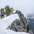Hiking the summit ridge of Kessler Peak.- Great Backcountry Skiing Near Salt Lake City, Utah