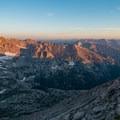 Glacier Basin in morning light.- Longs Peak: Keyhole Route