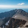 Mount Meeker from Longs Peak.- Longs Peak: Keyhole Route