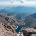 Chasm Lake basin from Longs Peak.- Longs Peak: Keyhole Route