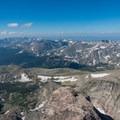 Looking south toward the Indian Peaks from the summit of Longs Peak.- Longs Peak: Keyhole Route