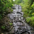 The trail of Ka'au Crater ascends the flume of the third falls.- Must-See Waterfalls in Hawaii