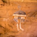 All American Man in Canyonlands National Park.- Native American Petroglyphs, Pictographs, and Artifacts