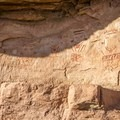 The amazing Four Faces in Canyonlands National Park.- Native American Petroglyphs, Pictographs, and Artifacts