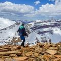 Kings Peak, West Gunsight, and Henrys Fork Peak (all 13ers), as viewed from the summit of Gunsight Peak.- High Uintas Wilderness