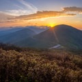 Sunrise from Craggy Pinnacle.- Stunning Fall Adventures in the Central Appalachians