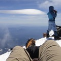 Enjoying the views from the summit of Mount Shasta.- 10 Reasons to Visit Mount Shasta