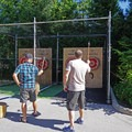 Axewood brought the adventure with ax throwing competitions. - Outdoor Project's 2017 Block Party Recap