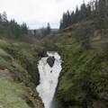 Mosier Falls after heavy winter rains. - Mosier Creek Falls + Plateau Trail
