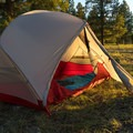 Large vestibule room with corner-zip fly doors on the Hubba Hubba NX.- Gear Review: 5 Best Backpacking Tents of 2018
