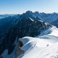Mountaineers descend a ridgeline on Aiguille du Midi, our 5,000th adventure!- 100 Unforgettable Adventures