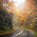 Beautiful autumn colors on the Blueridge Parkway near mile marker 385.- Great American Towns for Fall Foliage