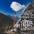 Passing enormous prayer stones and chortens en route to the Everest Base Camp.- Rethinking Leave No Trace: Increasing Your Cultural Awareness