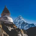 Stupas and chortens line the trail to the Mount Everest Base Camp in Nepal.- Rethinking Leave No Trace: Increasing Your Cultural Awareness