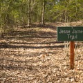 Jesse James Trail intersects with Hard Bottom Trail not far into the hike at Poverty Point Reservoir State Park. - Adventurer's Guide to Northern Louisiana