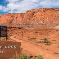 The Chimney Rock trailhead.- A Perfect 7-Day Itinerary for Capitol Reef, Arches, and Canyonlands