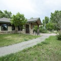 Campground office and visitor center at Cherry Creek State Park Campground.- Cherry Creek State Park
