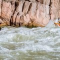 Navigating the chaos of Granite Rapid, one of the biggest in the canyon.- Grand Canyon National Park