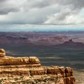 View over Valley of the Gods from Moki Dugway overlook.- Bears Ears National Monument
