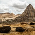 Pectol's Pyramid in Capitol Reef National Park.- Capitol Reef National Park