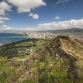 The view west to Waikīkī from the summit of the Diamond Head Crater Hike (761 ft).- A 3-Day Itinerary to the Best of Honolulu
