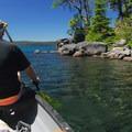Waldo Lake near North Campground.- Paddling the West