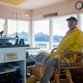 Rob Bishop, angelic volunteer, mans the Heaven's Gate Lookout.- Fire Lookouts of the West