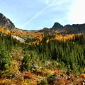 Fall colors over Blue Lake.- A Weekend in North Cascades National Park