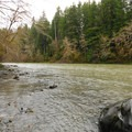 Hoh River from Hoh Oxbow Campground.- Best Year-round Campgrounds in Washington