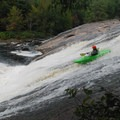 Fowlersville Falls from the scout point.- Whitewater Paddling The Northeast Classics