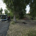 Typical campsite at Cottonwood Campground, Rockport State Park.- Rockport State Park