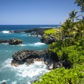 View of the Wai'anapanapa Sea Arch.- The Ultimate 7-Day Maui Road Trip