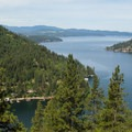 Lake Coeur d'Alene from Mineral Ridge.- Idaho's Best Adventure Towns