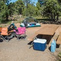 Typical Desert View campsite.- Grand Canyon National Park