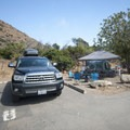 Typical campsite at Sycamore Canyon Campground.- The Beginner's Guide to Car Camping