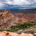 Fruita Campground from Rim Overlook.- Utah's Five National Parks
