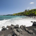 """Pa'iloa """"Black Sand"""" Beach in Wai'ānapanapa State Park.- State and County Parks and Forests"""