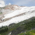 View of Roosevelt Glacier and Bastile Ridge.- Exploring Mount Baker, Washington