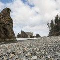Ruby Beach.- Winter in Olympic National Park