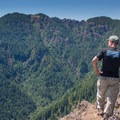 Looking across at Kings Mountain from the hard-earned Elk Mountain summit.- Saving Oregon's State Forests