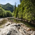 Swimming hole on the South Fork of the Snoqualmie River at Snoqualmie River Picnic Area.- Washington's 50 Best Swimming Holes