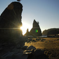 Sea stacks on Rialto Beach, near Hole-in-the-Wall at Olympic National Park.- The Ultimate Western National Parks Road Trip