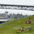 Gas Works Park: View west of Queen Anne, George Washington Memorial Bridge, and the Olympic Mountains.- Seattle's 16 Best Kid-Friendly Adventures