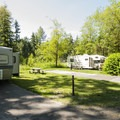 Typical RV hook-up sites at Dash Point State Park Campground.- Best Year-round Campgrounds in Washington
