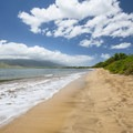 Mai Poina Beach looking north toward the West Maui Mountains.- Best Beaches in Maui